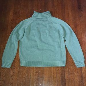 L.L. Bean Green Turtleneck Sweater